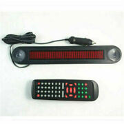 Car 12v Led Message Sign Programmable Moving Scrolling Board Remote Control Tool