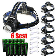 99000lumens T6 Led Zoomable Headlamp Rechargeable Headlight Head Lamp Torch