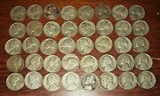 Lot Of 40 Silver War Time Nickels - 2 Face Value 1942-1945 1 Roll