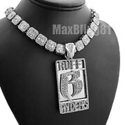Ruff Ryders Dmx Pendant And 12mm 16 18 Full Iced Baguette Choker Chain Necklace