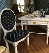 Miniature Dollhouse Black Vanity With Chair 112 Scale New Furniture French