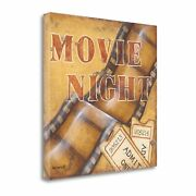 Tangletown Movie Night Kim Lewis Giclee On Gallery Wrap Canvas Sbkl1828-2929c