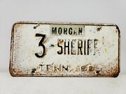 Vintage 1968 Tennessee Sheriff License Plate Knox County 3