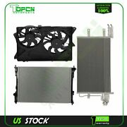 Electric Engine Radiator Condenser Cooling Fan For 2010 2011 2012 Ford Flex