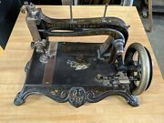 Antique Grover And Baker Hand Crank Sewing Machine Vintage