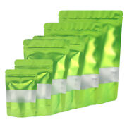 Matte Green Standup Zip Seal Bag In With Frosted Window For Snacks Candy Chamoy