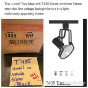 Juno Trac-master Wireform T435 Wh Track Light Fixture Andndash White Open Flood Light
