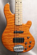 Lakland Shoreline Series Sl55-94dx Amber Translucent Maple Used W/soft Case