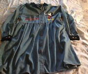 Vintage Disney Store Dress Denim Embroidered Mickey Mouse Womenand039s Large