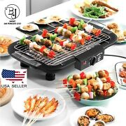 Grill And Griddle In/outdoor Portable Electric Barbecue Grill Cooking Bbq