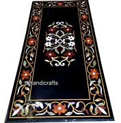 30 X 60 Inches Marble Dining Table Top Hand Crafted Living Room Table Inlay Work