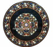 48 Inches Marble Patio Dining Table Top Floral Work Inlaid Office Meeting Table