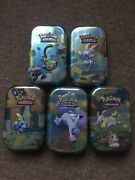 Pokemon Sword And Sheild Galar Tin Mint X5 Set Empty Storage Tins