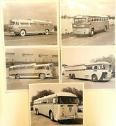5 Asst 1950and039s Bus Photos - Starlinerbangor And Aroostookgreat Northern Railway