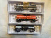 Atlas - N Scale - 3 Tank Cars - Dow - Ppg Chemicals, Propane Gas Svs