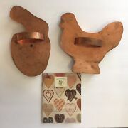 Vintage Martha By Mail Hen Bent And Hatching Bunny Giant Copper Cookie Cutters