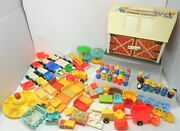 Fisher Price 1967 Vintage 915 Farm 80 Pc Lot Little People Vehicles Accessories