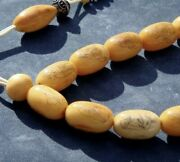 Antique Hand-etched Tooth Asian Prayer Beads