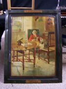 Lithograph Tin Advertising Sign For G.o. Blake's Whisky, Titled Smiles, 28 X 22