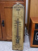 Wooden Ford Themometer Franz Motor Sales Staunton Ill Watch The Fords Go By