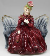 Thames Vintage Lady Sitting On Couch Sofa Victorian Ceramic Figurine 6 Japan
