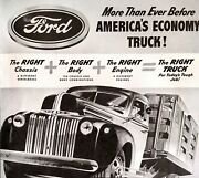 1941 Ford Trucks Chassis Body Engine Built Haul Loads Wheelbase Vintage Print Ad