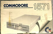 Commodore 1571 5.25 Floppy Drive Tested And Working W/manual, Disk,r/w Card