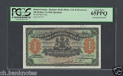 British Guiana-barclays Bank Dom, Col And Overseas 100 Dollars 1-9-1926 Specimen