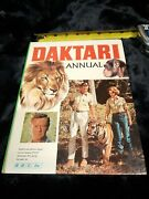 Daktari Annual 1967 1 Vintage Bbc Tv Book With Library Stamp Grease Pencil Mrk