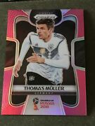 2018 Panini Prizm World Cup Thomas Muller Pink Refractor Ssp 5/8 Germany Rare Sp