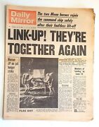 Daily Mirror Newspaper - 1st Man On The Moon - Neil Armstrong And Buzz Aldrin 1969