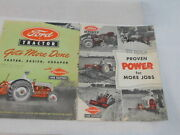 2 Vintage Ford Tractor Ads Gets More Done Proven Power For More Jobs Farm Equip