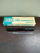 Vintage B-d Fever Thermometer Asepto Becton Dickinson And Company