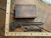 Lot Of Antique Ford Model T Adjustable Wrench Wood Ignition Coil Battery Wrench