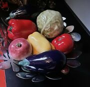 Large Glass Vegetables Display Murano
