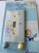 Precious Moments Light Switch Cover Plate Helper Little Girl With Bear Vintage