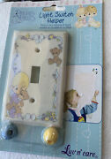 Precious Moments Light Switch Cover Plate Helper Little Boy With Bear Vintage