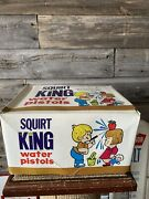 Vintage Squirt King Toy Water Pistols Squirt Guns