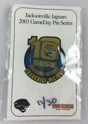 Nfl 2003 Jacksonville Jaguars Gameday Pin Series-10 Years Of Franchise History