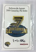 Nfl 2005 Jacksonville Jaguars Gameday Pin Series-7 Byron Leftwich Marshall