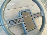 T-type Leather Steering Wheel 1986 - 1987 Buick Riviera T-type Oem Gray Leather