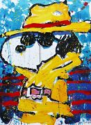 Tom Everhart Undercover In Beverly Hills Peanuts Cool Snoopy Hand Signed