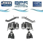 Corsa 304 Ss Axle-back Exhaust System Quad Rear For Cadillac Ats 16-19 14478