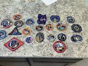 Group Of 21 Borderless Nasa Spacelab Space Shuttle Challenger Patches Vintage
