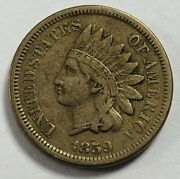 1859 Indian Head Penny Small Cent Better Grade 338