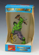 2006 Marvel Comics Toon Tumblers Bronze Age Heroes Incredible Hulk Frosted Glass