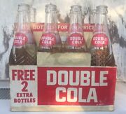 8 Pack Double Cola 10oz Swirl Acl Glass Bottles And Paper Carton