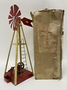 Vtg 1934 Empire Model Windmill And Pump With Box Menasha Wi Antique Mill Toy