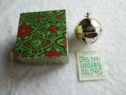 Wallace Bell 1980 Annual Christmas Silverplated 10th Edition New In Box