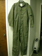 Us Military Nomex Flyers Coveralls Summer Sage Green 8415-01-043-8393 44l